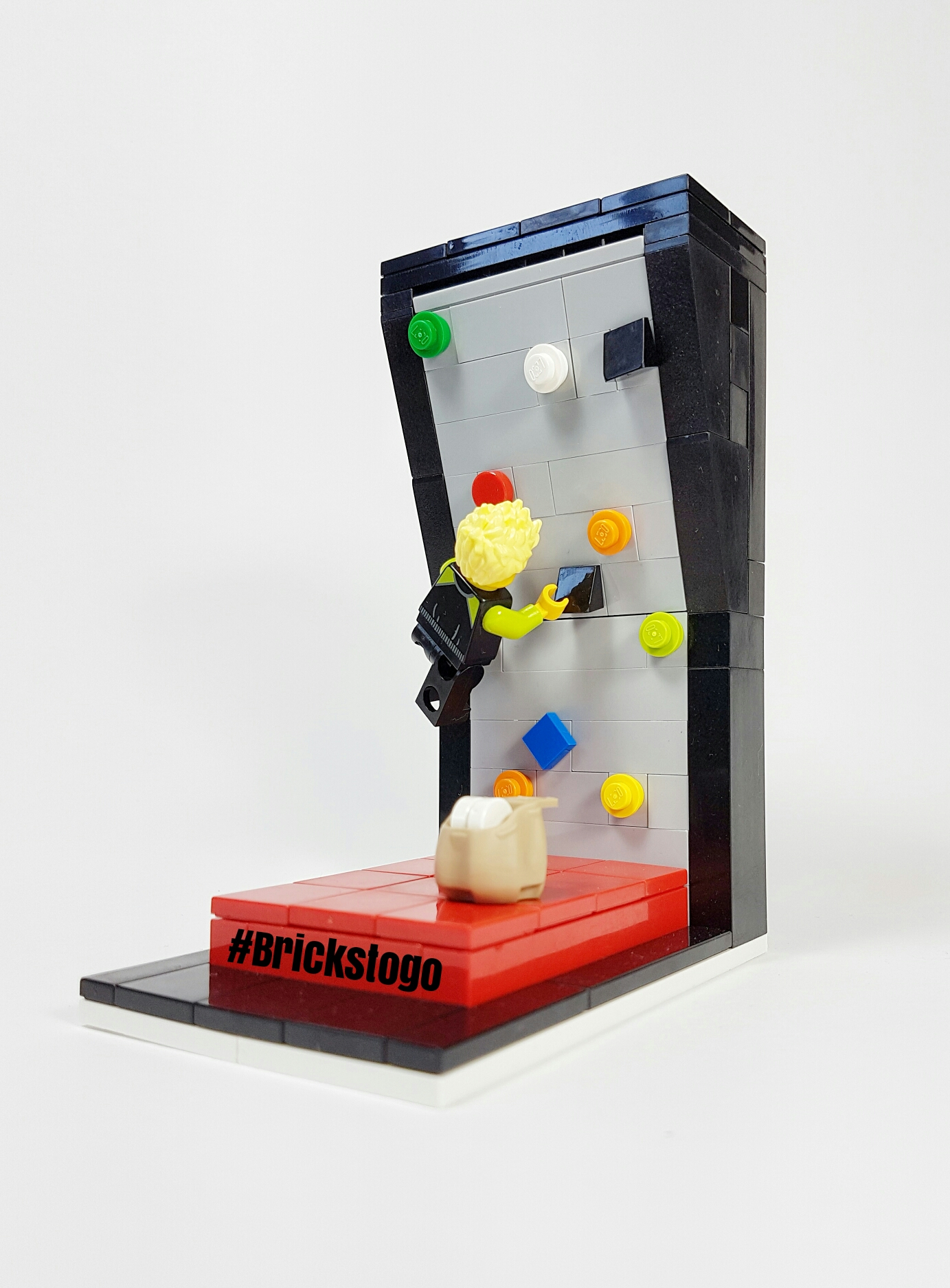 Lego indoor rock climbing wall MOC