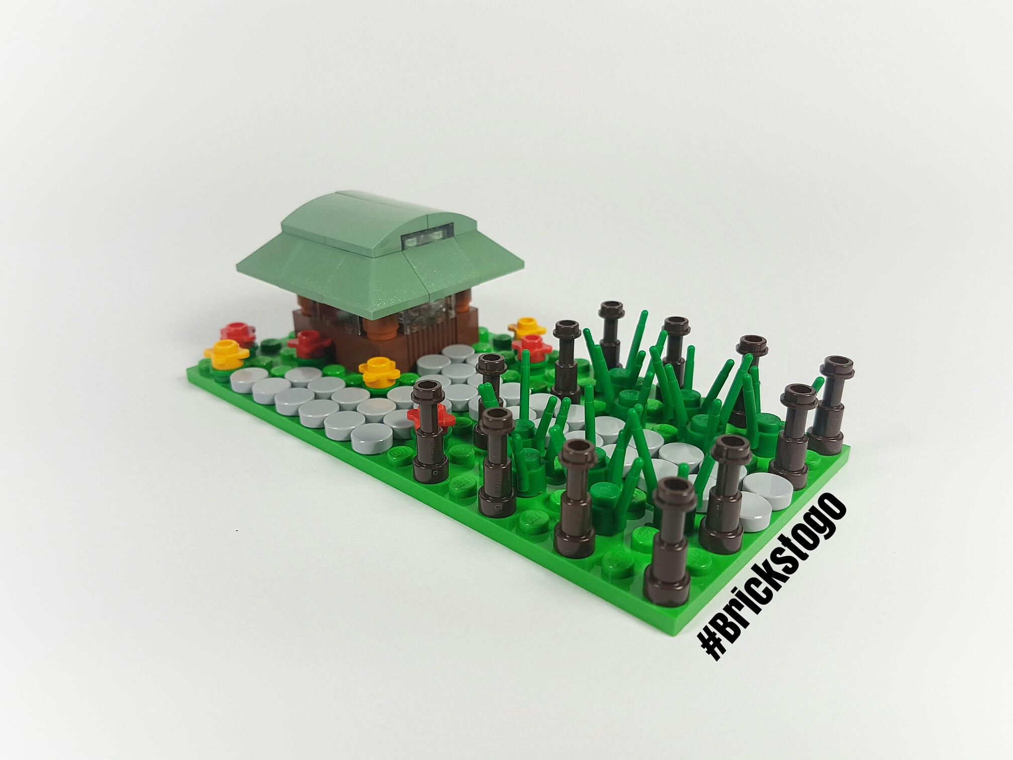 Mini Lego Japanese farm and farmhouse