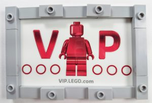 Lego VIP card with grey Lego border