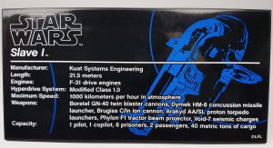 Example of the UCS collectors plate for the Slave 1 Star Wars set
