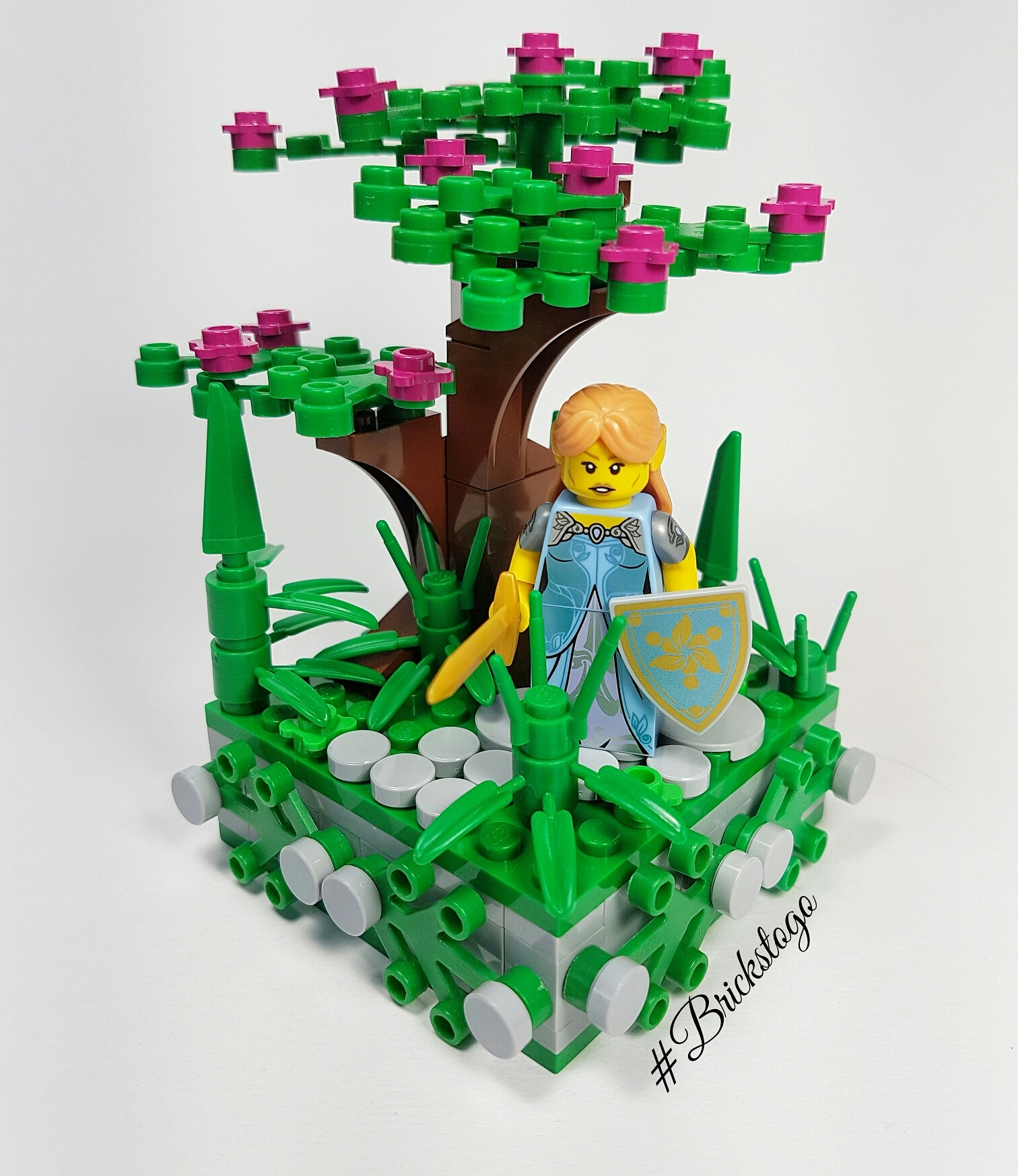 Lego fantasy elf in the forest MOC