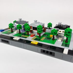 Micro-City Modern Residential Street